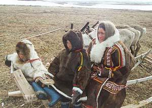 Ensemble XXI Moscow in the Tundra with the nomadic indigenous Nenets reindeer herders in the Arctic Circle.