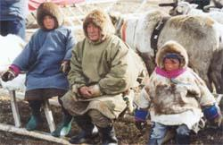 Nenets Chief with the younger generation