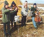 Ensemble XXI playing in the Arctic Circle